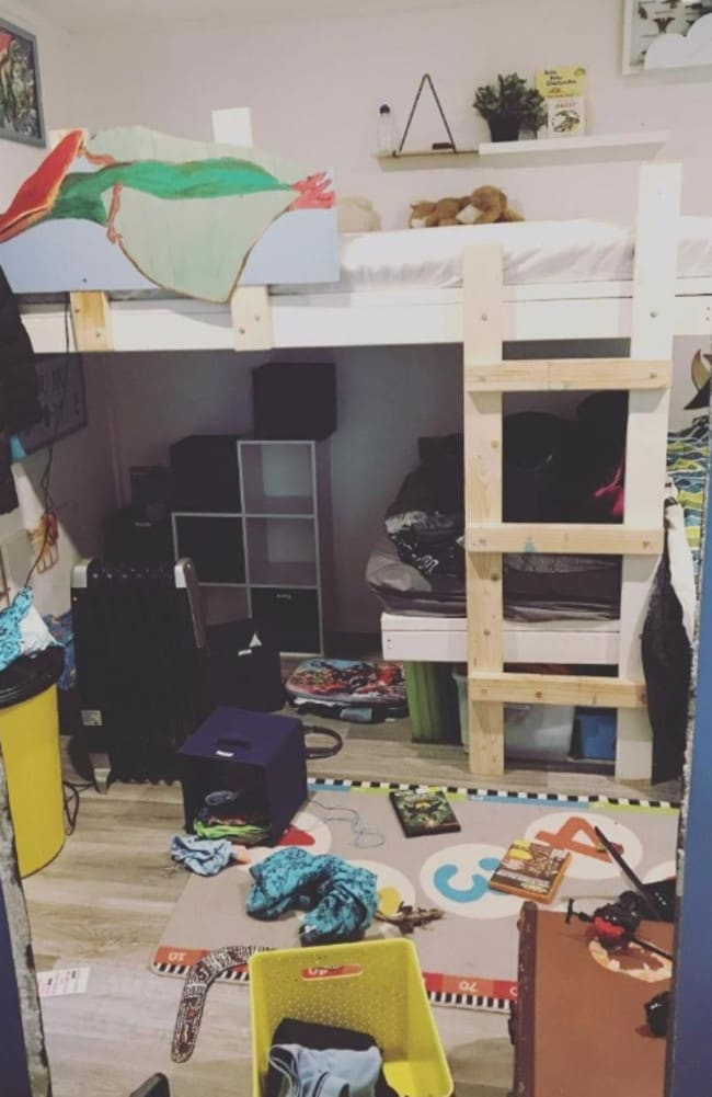 The mum's two young sons share this room. Picture: Instagram