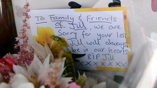 Victorians leave flowers and tributes in front of the Duchess Boutique on Sydney Rd. Picture: Alex Coppel