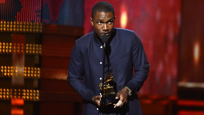 Frank Ocean accepts Best Urban Contemporary Album award at the 55th Annual GRAMMY Awards. Picture: Getty Images