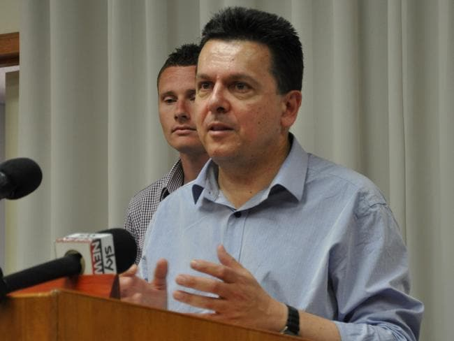 Not everyond is excited about the gambling newcomed. Senator Nick Xenophon was outspoken in his opposition to its launch. Picture: Rick Goodman/AAP