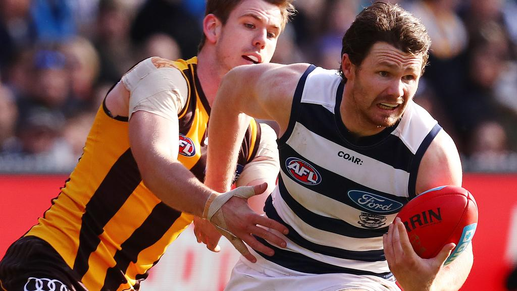 Patrick Dangerfield is already considered among Geelong's greatest players even though he has played just 40 games with the club. Picture: Michael Klein