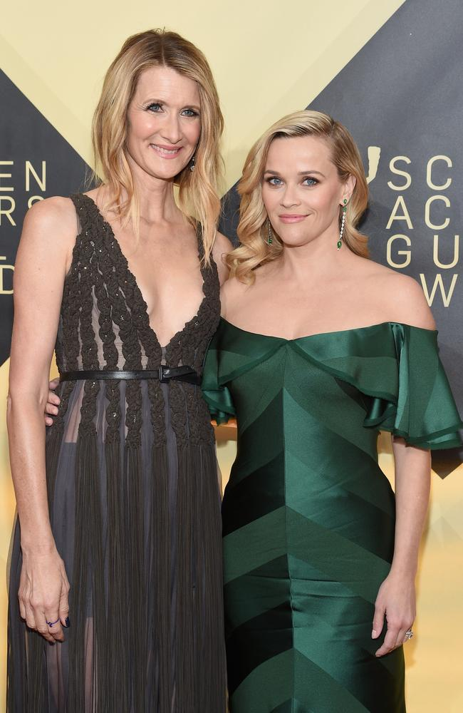 Laura Dern (L) and Reese Witherspoon will return for a second series of Big Little Lies. Picture: Getty