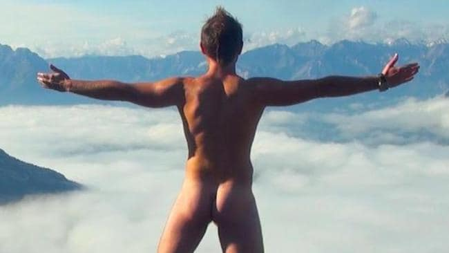 Emil Kaminski posted a photo of himself naked on a sacred mountain in Malaysia.