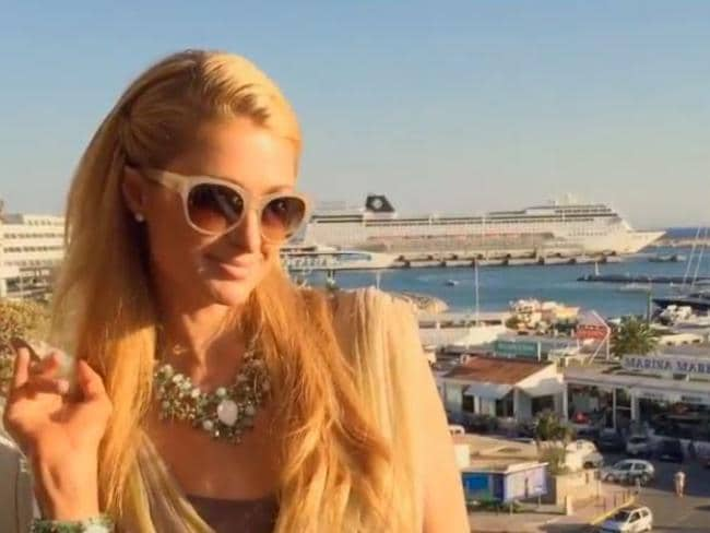 Not a care ... Paris Hilton posted a clip to Instagram showing her enjoying the Ibiza sunshine. Picture: Instagrm