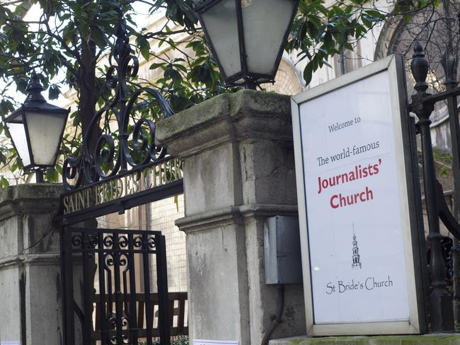 "The pair will hold a private ceremony of celebration at St Bride's Church on Fleet Street, which proclaims itself the ""spiritual home of the media""."