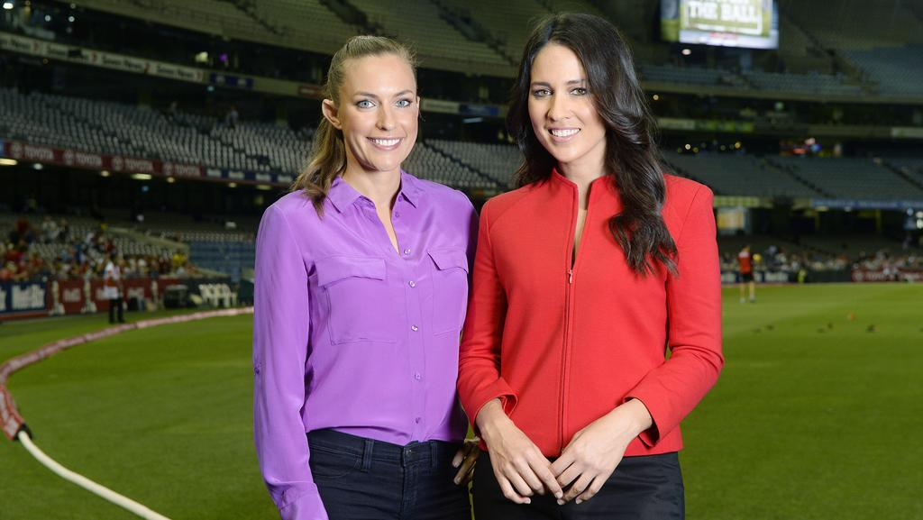 A womans touch bowls over big bash viewers herald sun roz kelly and mel mclaughlin have bowled over aussie tv audiences picture josie hayden sciox Gallery