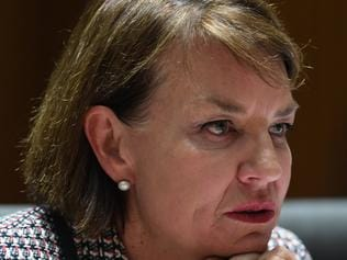 CEO of the Australian Bankers Association Anna Bligh speaks during a Senate hearing into the proposed Bank Levy at Parliament House in Canberra, Friday, June 16, 2017. (AAP Image/Lukas Coch) NO ARCHIVING