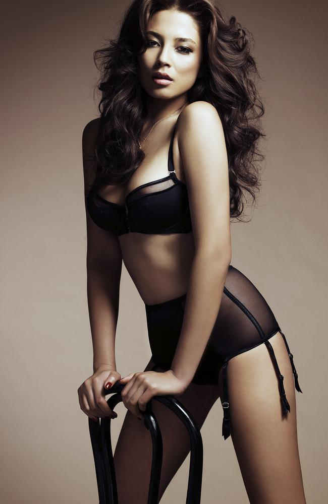 Before... Australian model Jessica Gomes in Madison magazine.