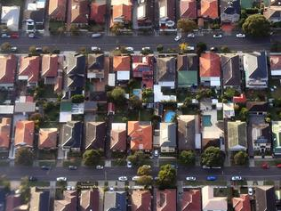 Australian homes are seen from a commercial aircraft over the Sydney suburb of Eastlakes, New South Wales, Australia, Tuesday, May 2, 2017. (AAP Image/Sam Mooy) NO ARCHIVING