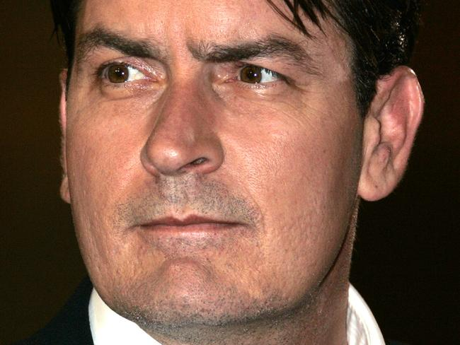 This 21/05/2006 file photo shows actor Charlie Sheen as he arrives for the screening of the film 'Platoon' at the 59th International film festival in Cannes, southern France.