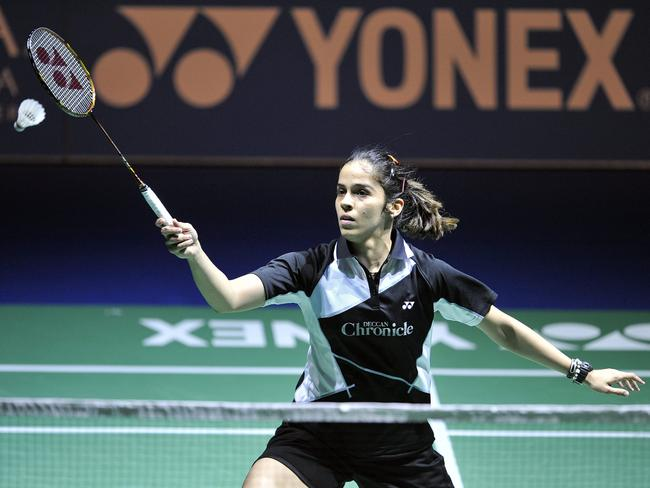 India's Saina Nehwal in action.