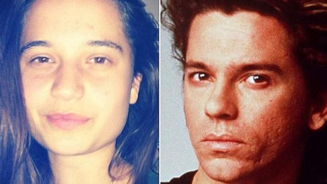 Tiger Lily Hutchence and her father, former INXS frontman Michael Hutchence.