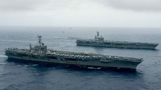 United States Navy Sends Two Nuclear Powered Aircraft