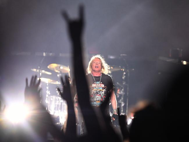 Fans show their appreciation for lead singer Axl Rose and Guns N' Roses. Picture: AAP