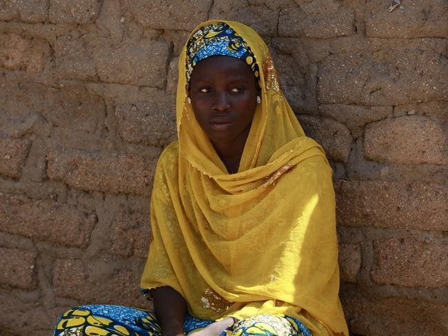 Joy Bishara is one of the school girls that escaped Boko Haram by jumping off a truck. Picture: AP/Sunday Alamba