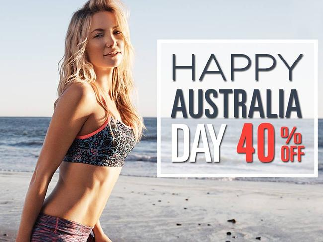Kate Hudson promotes Fabletics to Australian customers. Picture: Fabletics/Facebook