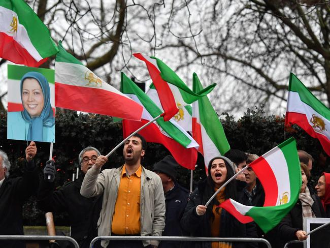 The protests spread to the Iranian Embassy in London. Picture: AFP