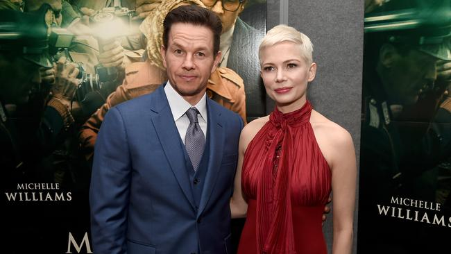 Mark Wahlberg and Michelle Williams attend the premiere of All The Money In The World.