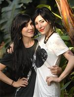 <p>Veronicas' band members Jess (white) and Lisa Marie Origliasso (black), who are part of a growning number of celebrities who are supporting The Daily Telegraphs anti-whaling campaign in Sydney. Pic. Jim Trifyllis</p>