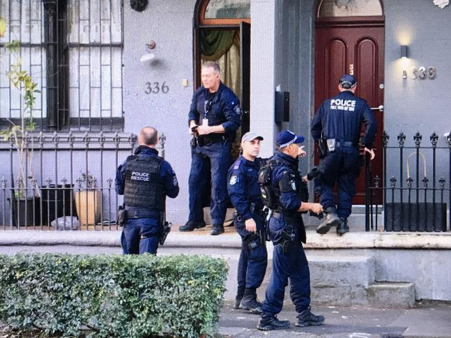 NSW Police raids in the Sydney suburb of Surry Hills. Pictures Dylan Robinson