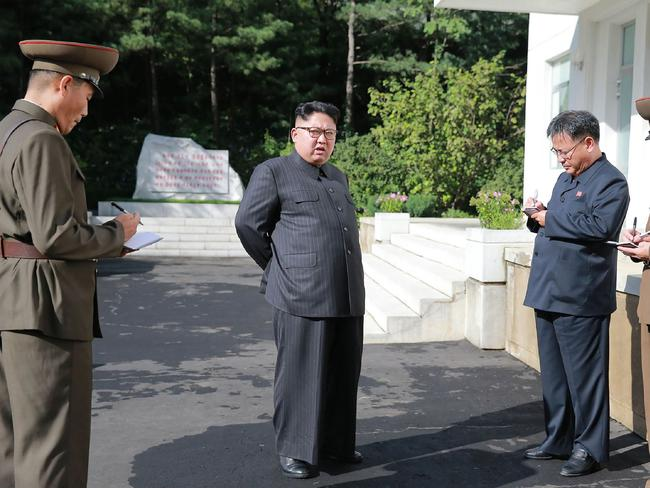 New images of Kim Jong-un were released by North Korea's official news agency overnight. Picture: AFP/KCNA via KNS