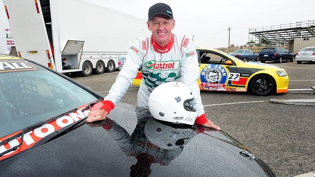 Tony Longhurst checks out his ute for the first time before practice at Mallala ahead of this weekend's Clipsal500. Picture: Mark Brake