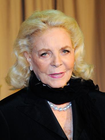"""Her late-husband's estate, The Bogart Estate released the news on Twitter: """"With deep sorrow, yet with great gratitude for her amazing life, we confirm the passing of Lauren Bacall"""". Lauren Bacall attends the 2010 Oscars in Hollywood. Picture: Getty"""