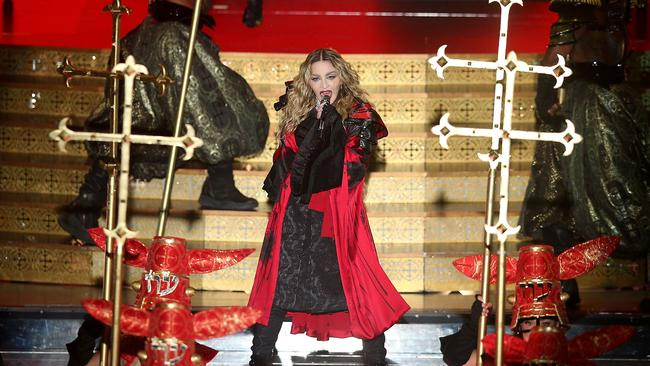 Heart attack: Madonna will film concerts in Sydney for a second time. Picture: Graham Denholm/Getty Images