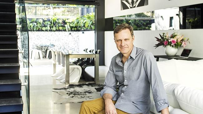 Grand Designs Australia host Peter Maddison at the amazing house. Picture: Courtesy Foxtel/Nick Wilson