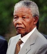 <p>A despondent looking South African President Nelson Mandela, listens to journalists during a press conference at his Johannesburg home in 1996.</p>