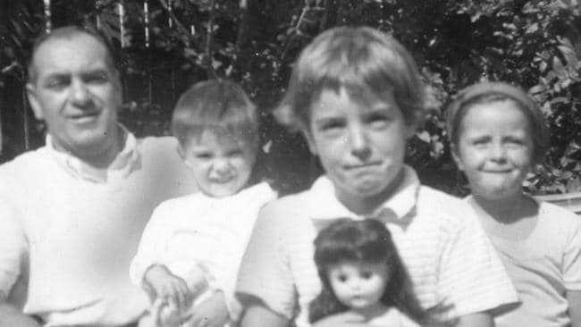The Beaumont children (above) with their father Jim before they vanished from Glenelg Beach, Adelaide on Australia Day, 1966.