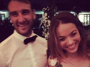 Jobe Watson with his girlfriend ? Virginia Slaghekke