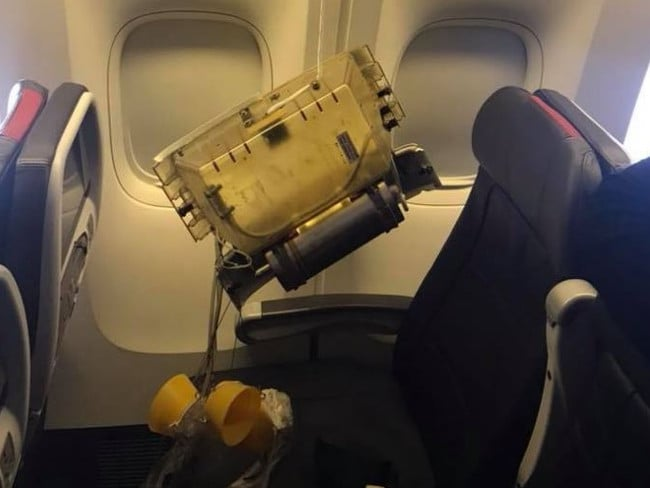 American Airlines Mum S Horror As Piece Of Plane Falls On