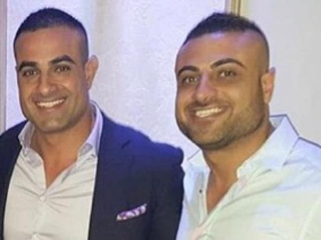 Jeff Nasr and Steve Nasr who died after the car they were travelling in burst in to flames after crashing outside the Novotel in the Sydney CBD