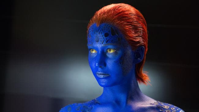 Jennifer Laurence as shapeshifter Mystqiue in 'X-Men: Days of Future Past'.