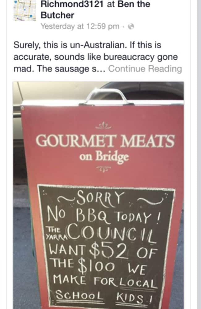 Ben the Butcher's post on Facebook.