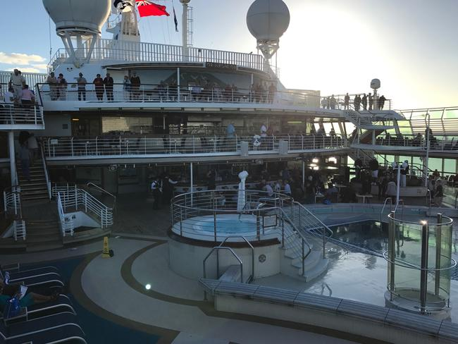 Passengers were allowed to return to the deck during daylight hours. Picture: Supplied