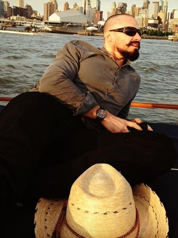 "Actor Hugh Jackman takes in the sights by boat, ""Nothing like a night on the water with a few amazing friends. #chillin' #greyhound #lovinlife.""Picture: Instagram"
