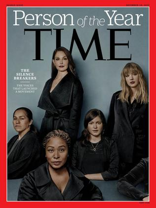 "Cover for 2017 Time Person of the Year: ""The Silence Breakers"". Picture: AFP / TIME Inc."