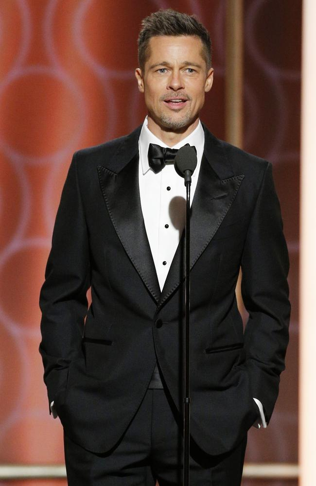 Brad Pitt, pictured at the Golden Globe Awards in February, has recently been stepping back into the spotlight. Picture: Paul Drinkwater/NBCUniversal via Getty Images