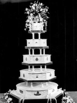 The wedding cake of Prince Charles and Princess Diana in 1981.