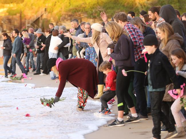 A crowd of around 200 people attended the vigil. Picture: John Grainger