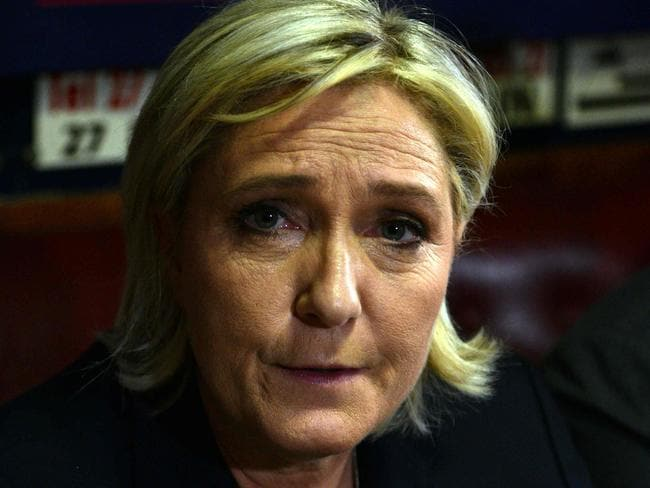 Bissonnette was reportedly influenced by Marine Le Pen. Picture: AFP