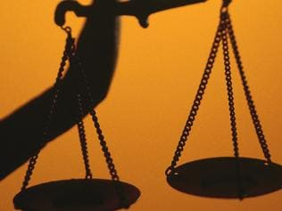 THINKSTOCK ONE TIME ONLY Silhouette of scales of Lady Justice holding scales