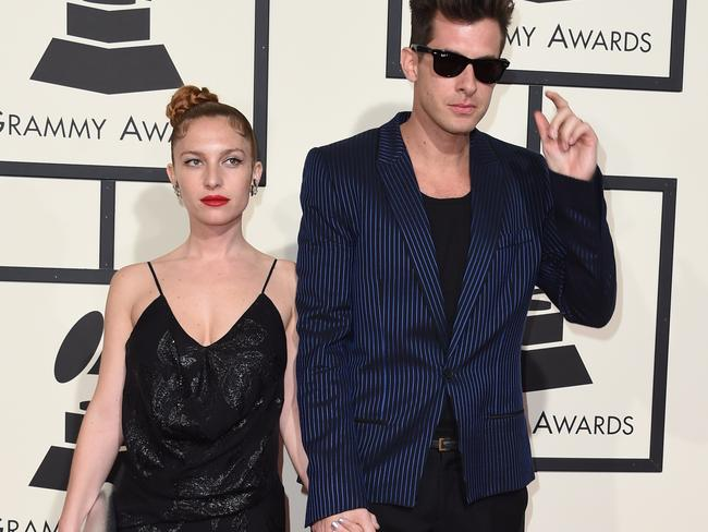 Fifty shades of cool: Mark Ronson with Josephine de La Baume. Picture: AFP