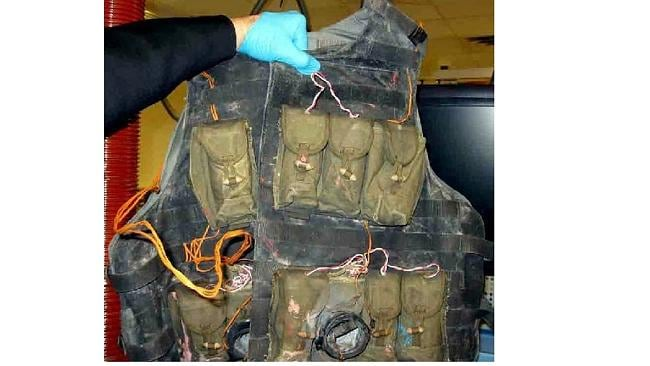 This suicide vest was found at Indianapolis but turned out to be a training aid. Source: TSA