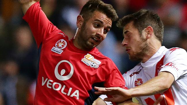 Zullo in action for Adelaide United. Picture: Sarah Reed