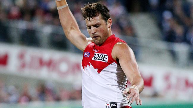 Sydney ruckman Toby Nankervis. Picture: Colleen Petch.