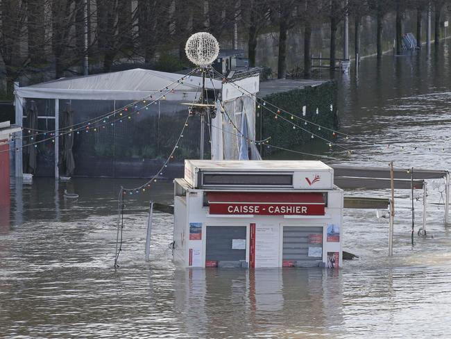 Many riverside facilities have been closed. Picture: AP