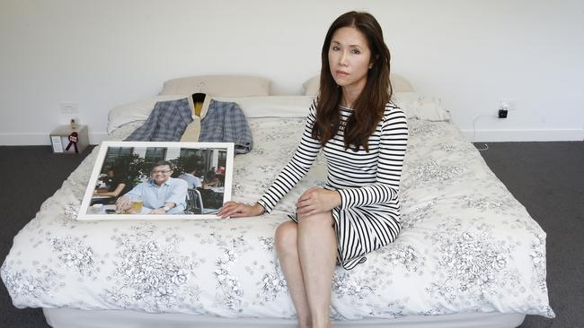 Grieving MH370 widow Jennifer Chong whose husband Chong Ling Tan was on board the plane. Picture: David Caird